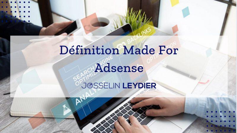 Que veut dire Made For Adsens ?