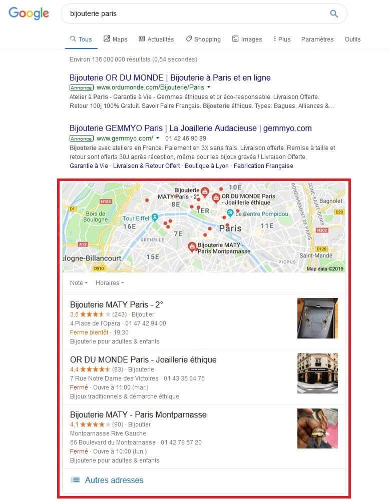 Recherche organique locale gratuite avc Google My Business