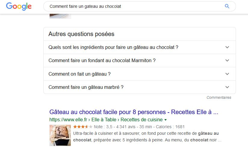 Google Related Questions ou People Also Ask