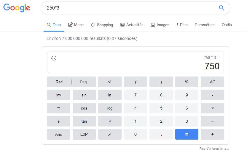 onebox google et position 0