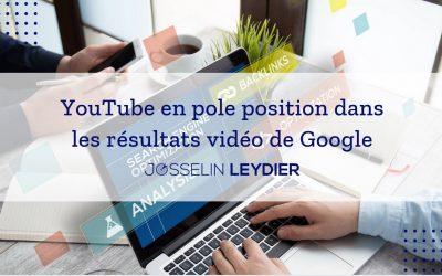 YouTube en pole position dans les résultats vidéo de Google