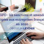 RGPD : les sanctions et amendes infligées aux entreprises françaises en 2020