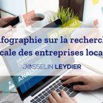 Infographie sur la recherche vocale des entreprises locales